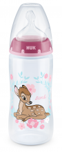 NUK First Cchoice РР шише 300мл. BAMBI с биберон за хранене М 6-18м.