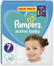 PAMPERS Active Baby 7 Пелени (15+кг.) 40 броя